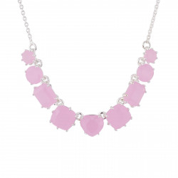 Colliers Fins Collier Fin 9 Pierres Rose La Diamantine
