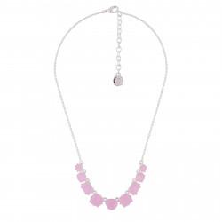 Colliers Fins Collier Fin 9 Pierres Rose La Diamantine
