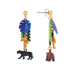 Boucles D'oreilles Boucles D'oreilles Pendantes Tige Baloo Et Bagheera75,00€ AJMJ105T/1N2 by Les Néréides