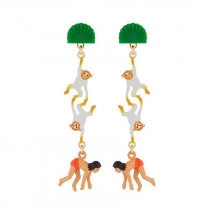Boucles D'oreilles Boucles D'oreilles Pendantes Tiges Mowgli Et Singes75,00€ AJMJ106T/1N2 by Les Néréides
