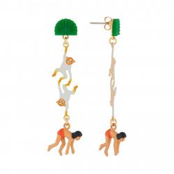 Boucles D'oreilles Boucles D'oreilles Pendantes Clip Mowgli Et Singes75,00€ AJMJ106T/1N2 by Les Néréides