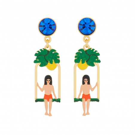 Asymmetrical ballerinas earrings