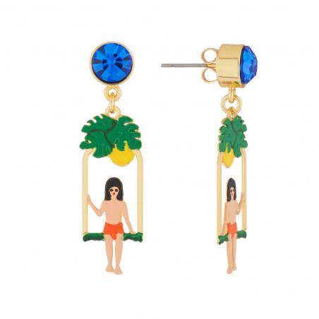 Asymmetrical ballerinas earrings