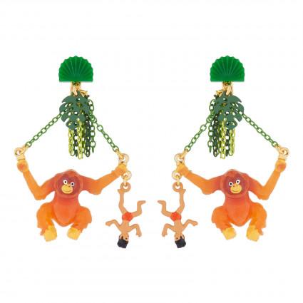 Boucles D'oreilles Boucles D'oreilles Pendantes Clip Mowgli Et Roi Des Singes85,00€ AJMJ110C/1N2 by Les Néréides