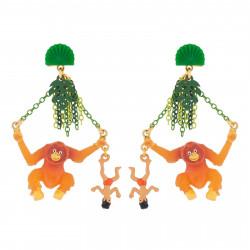 Boucles D'oreilles Originales Boucles D'oreilles Pendantes Tige Mowgli Et Roi Des Singes85,00€ AJMJ110T/1N2 by Les Néréides