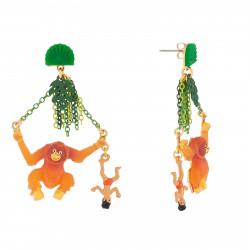 Boucles D'oreilles Boucles D'oreilles Pendantes Tige Mowgli Et Roi Des Singes85,00€ AJMJ110T/1N2 by Les Néréides