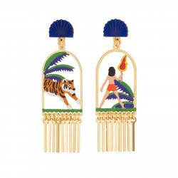 Boucles D'oreilles Originales Boucles D'oreilles Pendantes Asymétriques Clip Mowgli Et Shere Khan85,00€ AJMJ111C/1N2 by Les ...