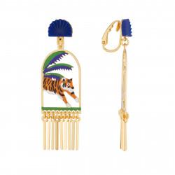 Boucles D'oreilles Boucles D'oreilles Pendantes Asymétriques Clip Mowgli Et Shere Khan85,00€ AJMJ111C/1N2 by Les Néréides