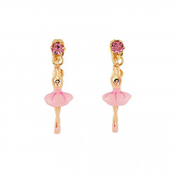 Boucles D'oreilles Pendantes Boucles D'oreilles Mini Ballerine En Tutu Rose