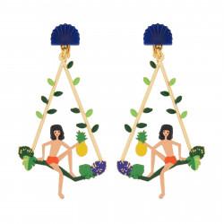 Boucles D'oreilles Boucles D'oreilles Créoles Clip Mowgli Sur Branche D'arbre