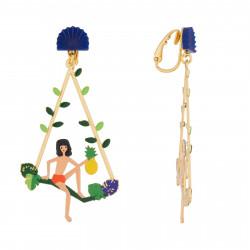 Boucles D'oreilles Boucles D'oreilles Créoles Clip Mowgli Sur Branche D'arbre80,00€ AJMJ114C/1N2 by Les Néréides