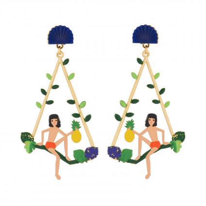 Boucles D'oreilles Boucles D'oreilles Créoles Tige Mowgli Sur Branche D'arbre80,00€ AJMJ114T/1N2 by Les Néréides