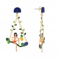 Boucles D'oreilles Boucles D'oreilles Créoles Tige Mowgli Sur Branche D'arbre