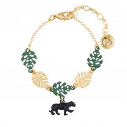 Bracelets Originaux Bracelet Fin Bagheera Et Feuilles55,00€ AJMJ201/1N2 by Les Néréides