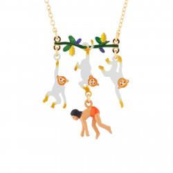 Colliers Originaux Collier Mowgli Et Singes Suspendus À Une Branche70,00€ AJMJ301/1N2 by Les Néréides
