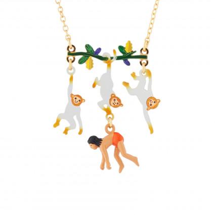Colliers Collier Mowgli Et Singes Suspendus À Une Branche70,00€ AJMJ301/1N2 by Les Néréides