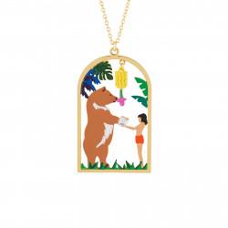 Colliers Collier Pendentif Mowgli Et Baloo