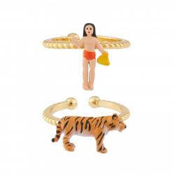 Bagues Originales Bague Multi-anneaux Ajustable Mowgli Et Shere Khan60,00€ AJMJ601/1N2 by Les Néréides