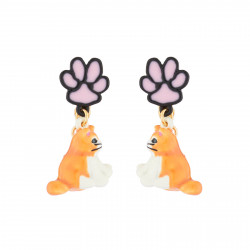 Cat Dangling Clip On Earrings