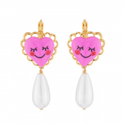 Pink Heart And Pearl...