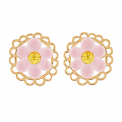 Pink Daisy And Golden Ring...