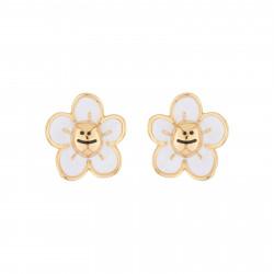 Boucles D'oreilles Boucles D'oreille Tige Petite Marguerite Blanche Pailletée45,00€ AJRB106T/1N2 by Les Néréides