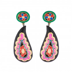 Paisley Dangling Stud Earrings