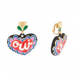 Boucles D'oreilles Originales Boucles D'oreilles Pendantes Clip Cœur Oui90,00€ AJRB109C/1N2 by Les Néréides