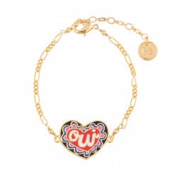 Bracelets Originaux Bracelet Fin Cœur Oui45,00€ AJRB202/1N2 by Les Néréides