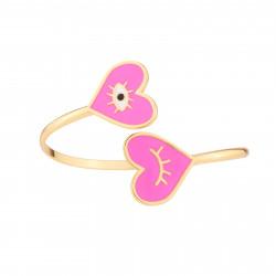 Bracelets Originaux Bracelet Jonc Cœur Rose70,00€ AJRB203/1N2 by Les Néréides