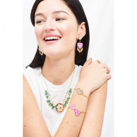 Purple and red mushrooms earrings