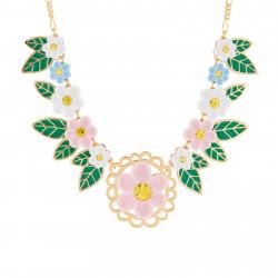 Collar Pechera Flor Rosa Y...