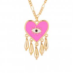 Collar Pendiente Corazón Rosa