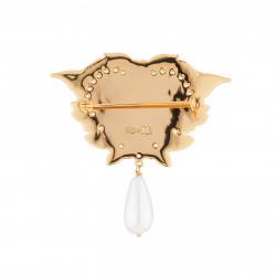 Accessoires Broche Cœur Rose Et Perle