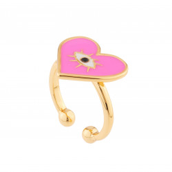 Pink Heart Adjustable Ring