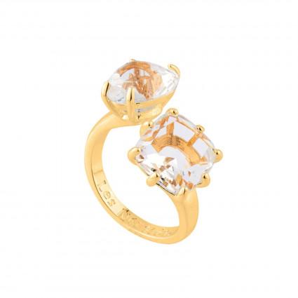 Bagues Ajustables Bague Toi Et Moi La Diamantine Cristal Pierre Cœur Et Carrée70,00€ AILD618/2Les Néréides
