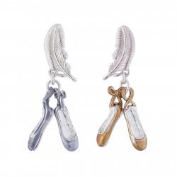 Boucles D'oreilles Boucles D'oreilles Chaussons De Danse Doré Et Argenté45,00€ AIBB103T/1N2 by Les Néréides