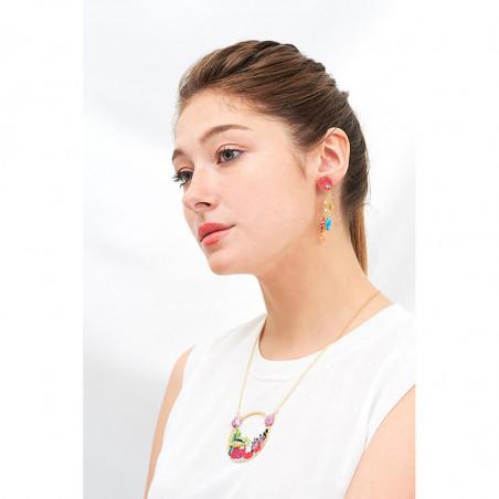 Boucles d'oreilles La Diamantine: 4 petites pierres