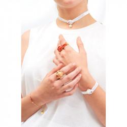 Bracelets Bracelet Ruban Brillant, Coquillage Et Perle