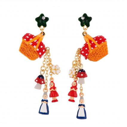 Boucles D'oreilles Boucles D'oreilles Panier Garni Déversant Les Miniatures Du Petit Chaperon Rouge Et Grand-mère75,00€ AFCR...