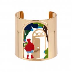 Bracelets Bracelet Manchette Petit Chaperon Rouge Entrant Chez La Grand-mère