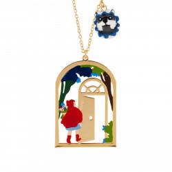 Colliers Sautoir Petit Chaperon Rouge Entrant Chez La Grand-mère