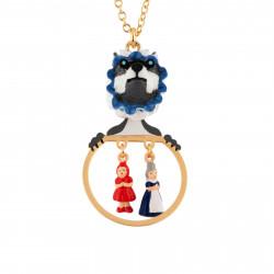 Colliers Collier Loup Déguisé Et Miniatures Du Petit Chaperon Rouge Et Grand-mère