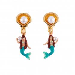Boucles D'oreilles Boucles D'oreilles Clip Petite Sirène Et Coquillage