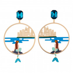 Clip-on Hoop Earrings With...