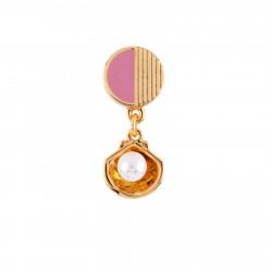 Boucles D'oreilles Originales Boucle D'oreille Petit Coquillage Et Perle (vendue À L'unité)25,00€ AFJS118T/1N2 by Les Néréides
