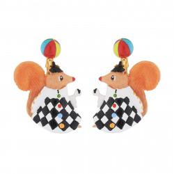 Boucles D'oreilles Boucles D'oreilles Pendantes Clip Écureuil Jongleur