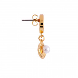 Boucles D'oreilles Boucle D'oreille Petit Coquillage Et Perle (vendue À L'unité)