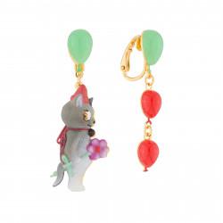 Boucles D'oreilles Boucles D'oreilles Pendantes Asymétriques Clip Chat Et Ballons65,00€ AJCI105C/1N2 by Les Néréides