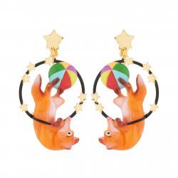 Boucles D'oreilles Boucles D'oreilles Pendantes Clip Renard Acrobate80,00€ AJCI108C/1N2 by Les Néréides